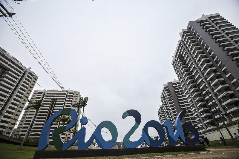 56e63167adea35e6e6edd0e12f4951dd707028f0.jpg • epa05386599 A general view over buildings in the Olympic Village during a media tour in Rio de Janeiro, Brazil, 23 June 2016. The Rio 2016 Summer Olympics are held from 05 to 21 August 2016.  EPA/ANTONIO LACERDA