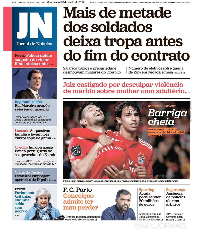 Jornal De Notícias 30 Jan 2019 Jornais E Revistas Sapo 24