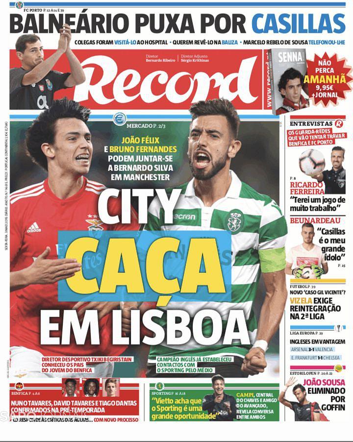 City Caça Em Lisboa Elogios A Conceição E Guitta Fazem As Manchetes