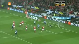 8  Golo FC Porto Mangala FC Porto  Golo de E. Mangala! Livre batido por  Moutinho e Mangala surge sozinho na área a fazer o primeiro golo do jogo! b03bcc66db25b