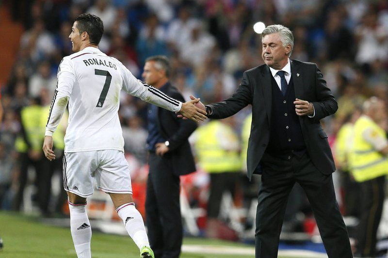 Real Madrid • Ancelotti e Ronaldo • AFP
