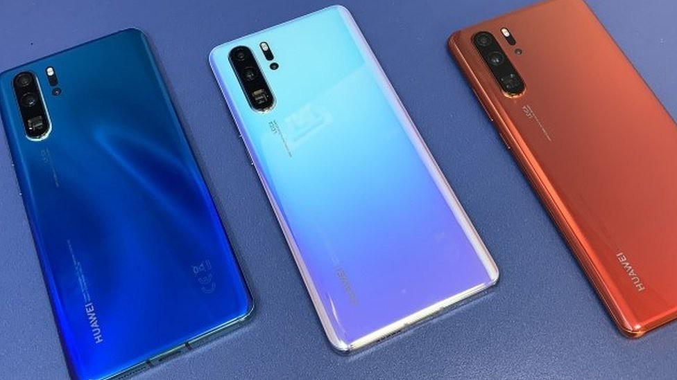 Telefones celulares da Huawei