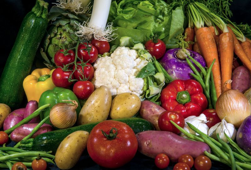This picture taken on August 7, 2014 shows vegetables, in Lille, northern France. Russia is introducing a