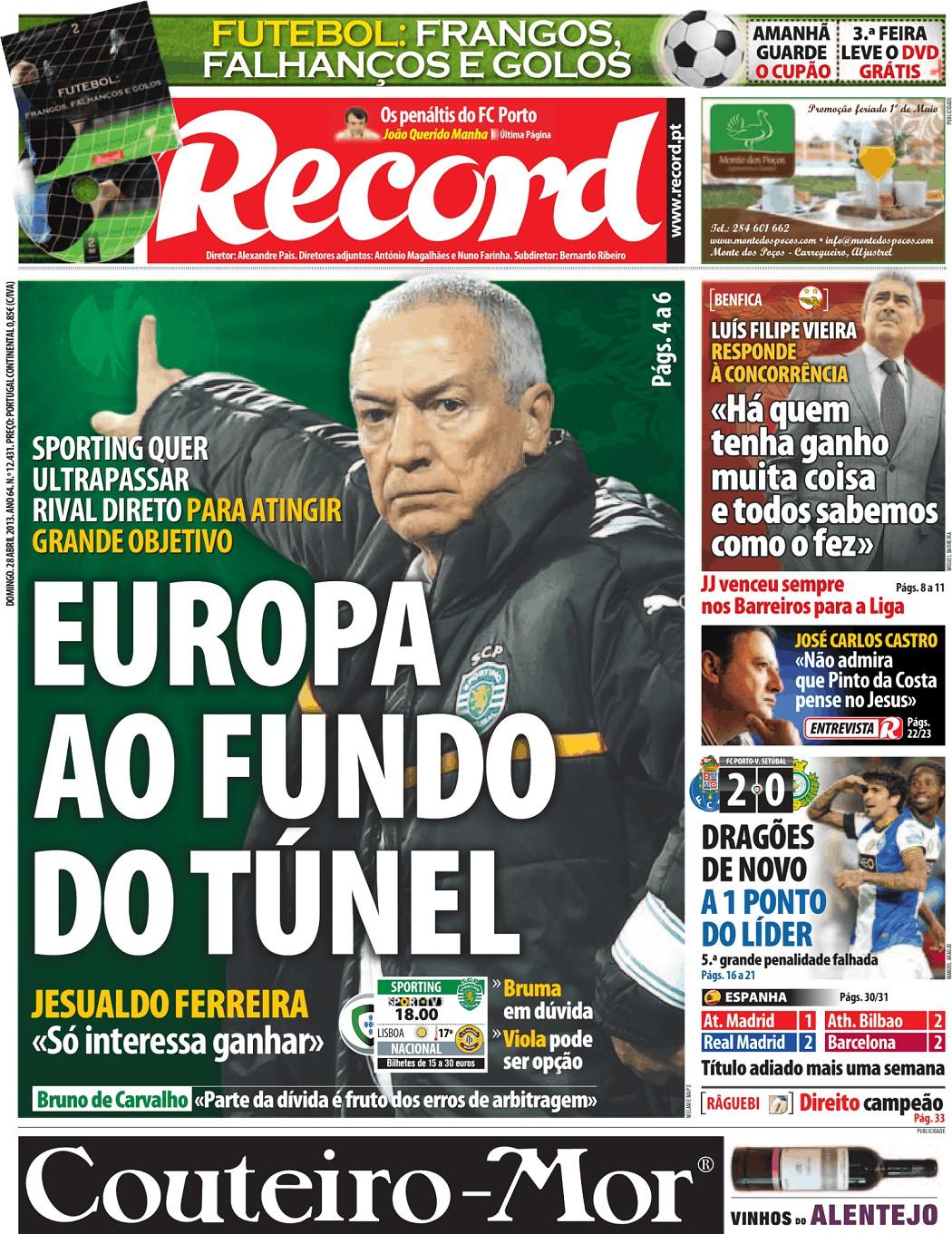 Record (28 abr 2013) - Jornais e Revistas - SAPO Notícias 68fc57ddfb990