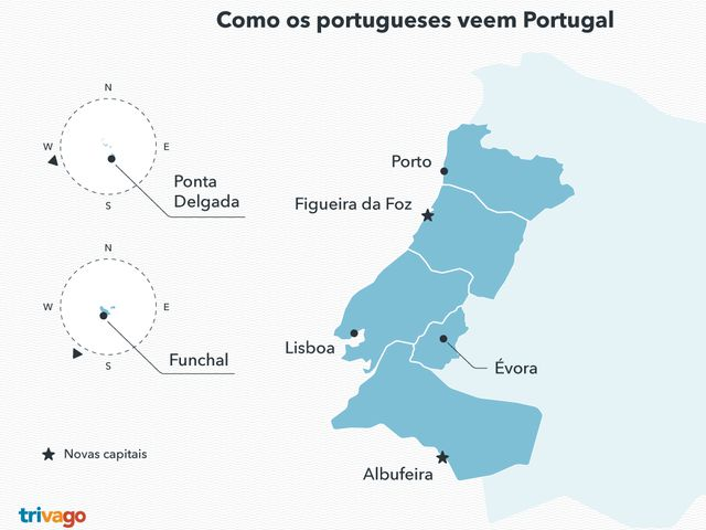 mapa de portugal na europa Os