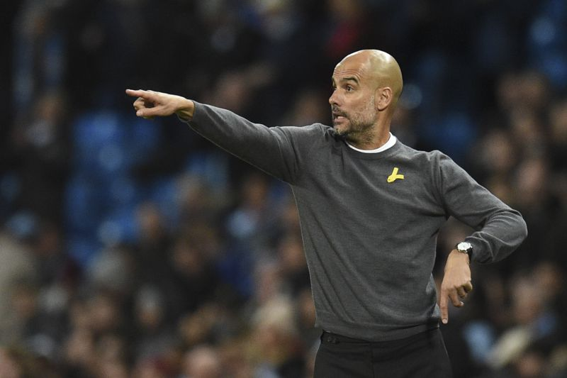 Pep Guardiola, treinador do Manchester City