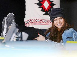 Selena Gomez Films an Adidas Commercial in Soho