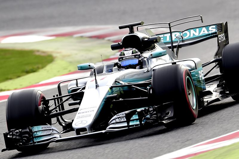 Valteri Bottas no seu Mercedes W08 • AFP or licensors