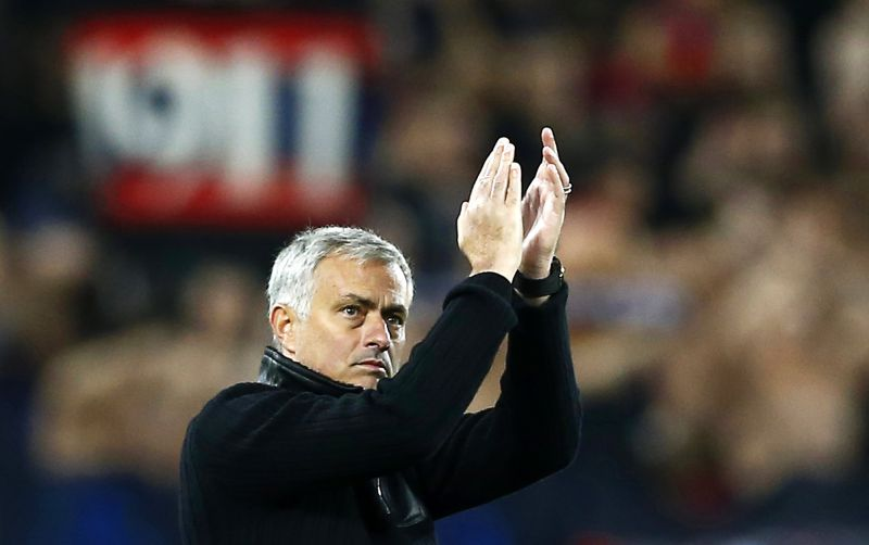 Manchester United manager Jose Mourinho applauds fans after the UEFA Champions League group A soccer match between CSKA Moscow and Manchester United at VEB Arena in Moscow, Russia, 27 September 2017. Manchester United won 4-1. EPA/MAXIM SHIPENKOV