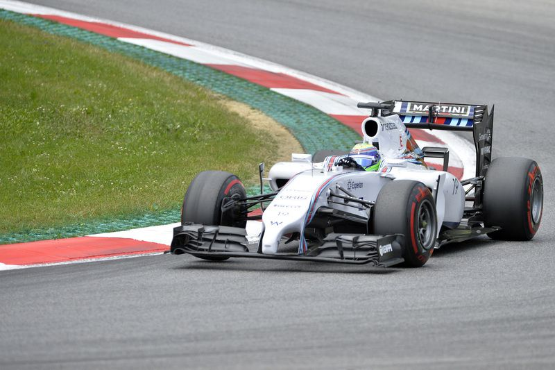 Felipe Massa na Williams • Felipe Massa parte na frente no GP da Áustria. • SAMUEL KUBANI / AFP