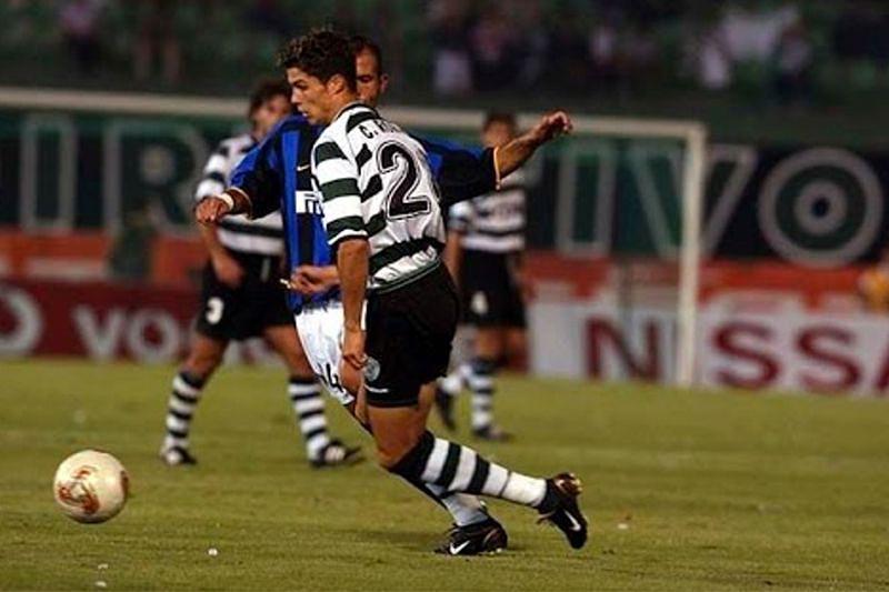 Cristiano Ronaldo na sua estreia pelo Sporting