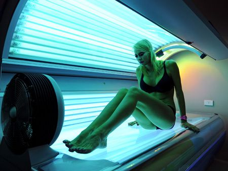 TO GO WITH Australia-health-lifestyle-cancer-sunbeds,FEATURE by Madeleine Coorey