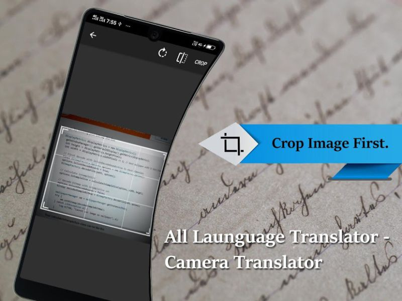 "É ""apontar e traduzir"" com a All Language-Camera"