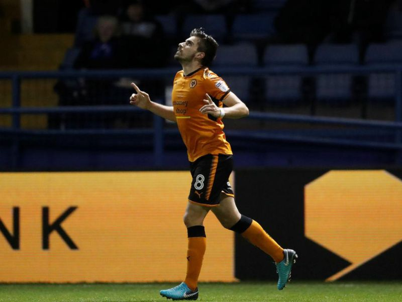 Rúben Neves festeja golo do Wolverhampton