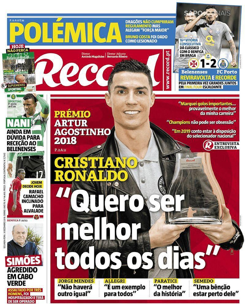 Revista de imprensa  Histórico FC Porto e Cristiano Ronaldo nas ... c9fcb016d8a9c