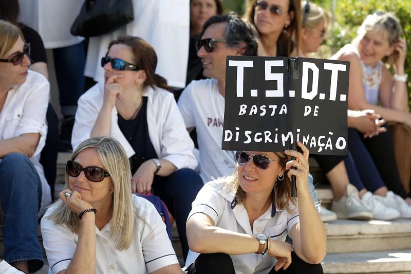 Resultado de imagem para Técnicos Superiores de Diagnóstico em greve e protesto na Assembleia da República