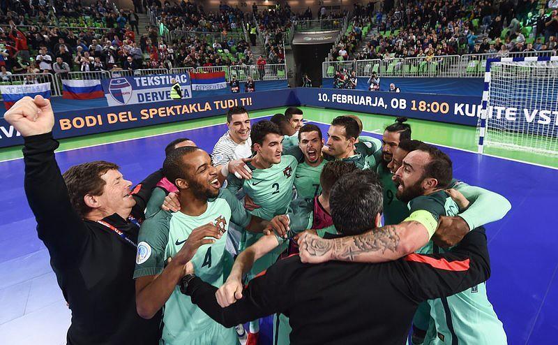 Euro/Futsal: Portugal faz a festa após vencer a Rússia nas meias-finais