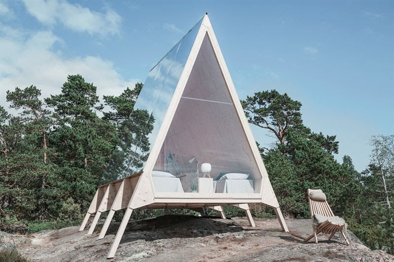Nolla, a cabana finlandesa que não deixa pegadas