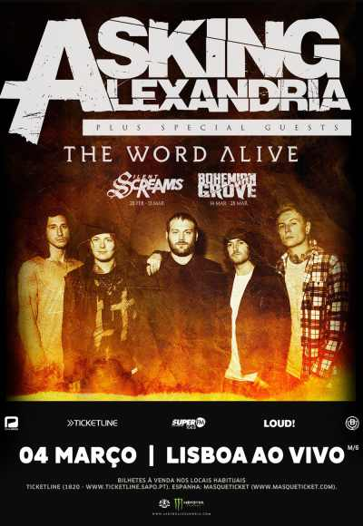 Asking Alexandria + The Word Alive & Silent Scream