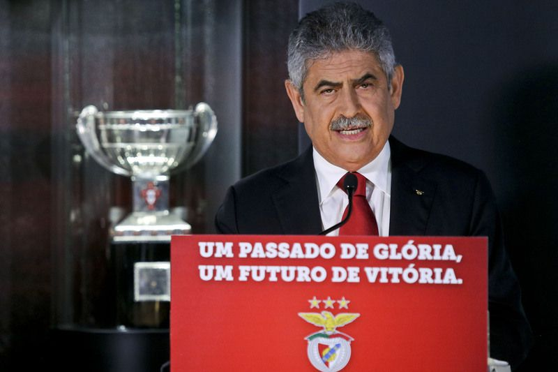Rui Vitória presented today as the new head coach of Benfica • Benfica's president Luis Filipe Vieira presents Rui Vitória (not pictured) as new head coach of Benfica for the next three seasons, Luz Stadium in Lisbon, Portugal, 15 of June 2015. POOL/MIGUEL A. LOPES/LUSA • Lusa