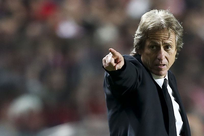Jorge Jesus • SL Benfica's coach Jorge Jesus reacts during their Portuguese First League soccer match against Gil Vicente held at Luz Stadium in Lisbon, Portugal, 21 December 2014. MARIO CRUZ/LUSA • LUSA