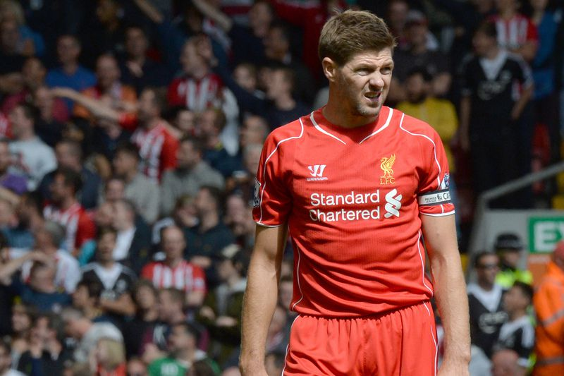 Steven Gerrard • PAUL ELLIS / AFP