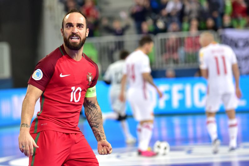 Ricardinho celebra o golo na final do Euro2018