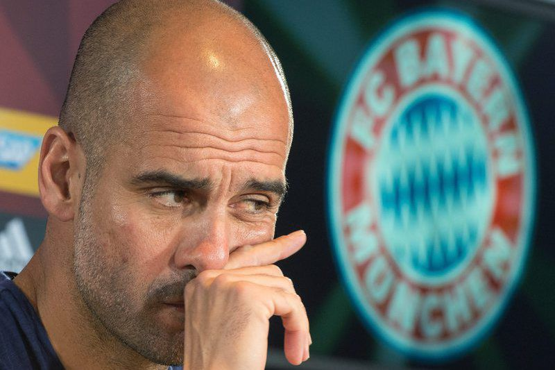 Guardiola to manage Manchester City from next season • epa05138392 (FILES) A file picture dated 05 January 2016 shows Pep Guardiola, head coach of German Bundesliga soccer club FC Bayern Munich, during a press conference in Munich, Germany.  Pep Guardiola is appointed manager of Manchester City from next season, the Premier League club said 01 February 2016.  EPA/PETER KNEFFEL *** Local Caption *** 52502186 • Lusa