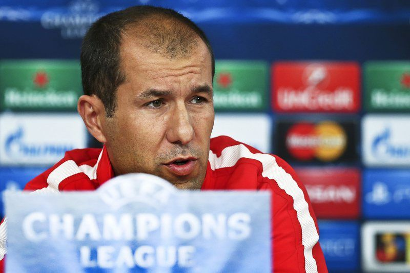 AS Monaco press conference • epa04474982 AS Monaco's Portuguese head coach Leonardo Jardim speaks during a press conference in Lisbon, Portugal, 03 November 2014. AS Monaco will face Benfica Lisbon in the UEFA Champions League group C soccer match on 04 November 2014 at Luz stadium.  EPA/MANUEL DE ALMEIDA