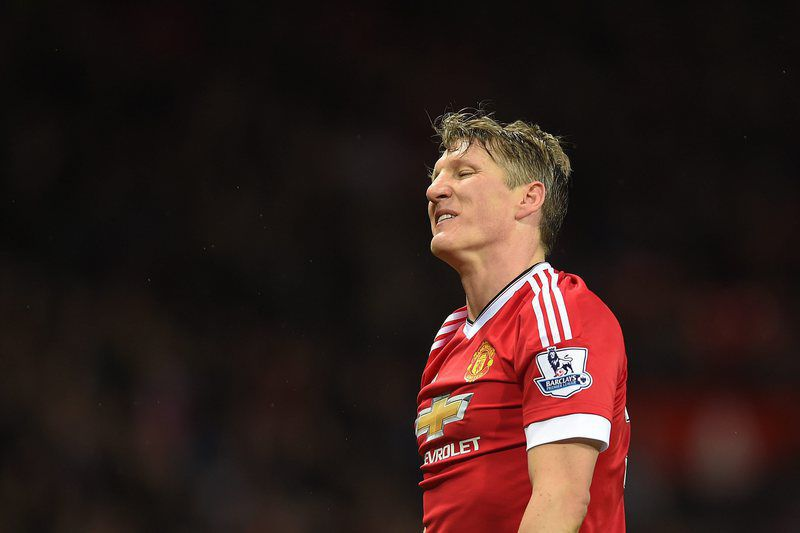 Manchester United Bastian Schweinsteiger leaves • epa05446998 (FILE) A file photograph showing Manchester United's Bastian Schweinsteiger reacts during the English Premier League soccer match between Manchester United and West Ham United at Old Trafford, Manchester, Britain, 05 December 2015. Media reports on 29 July 2016 that German Bastian Schweinsteiger has become  the latest victim of Jose Mourinho's 'clear-out at Manchester United.  EPA/PETER POWELL EDITORIAL USE ONLY. No use with unauthorized audio, video, data, fixture lists, club/league logos or 'live' services. Online in-match use limited to 75 images, no video emulation. No use in betting, games or single club/league/player publications *** Local Caption *** 52436388 • Lusa