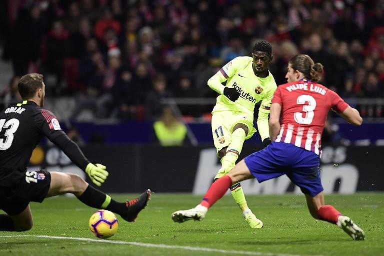 f944ef36d6 Golo de Dembélé  empata  Atlético de Madrid e segura FC Barcelona na  liderança