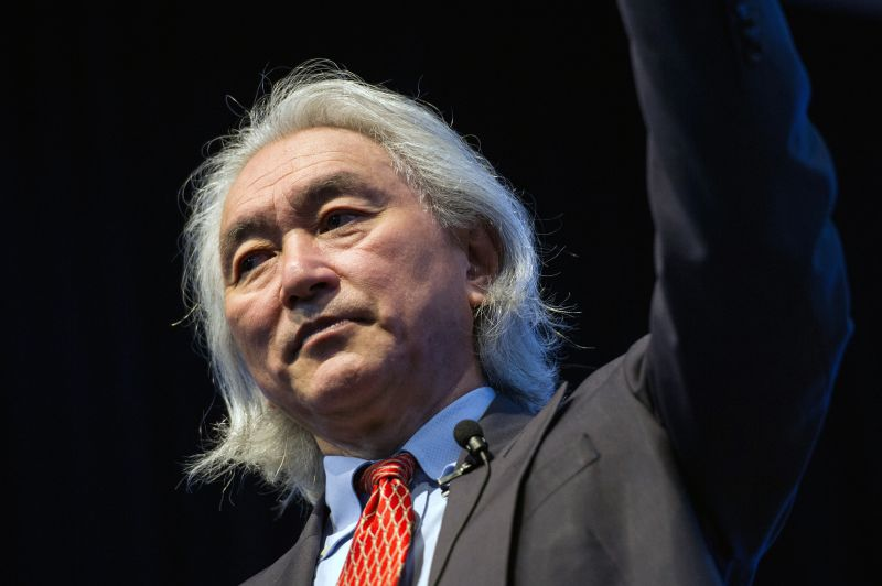 US Michio Kaku, a theoretical physicist and the co-founder of string field theory, from the City College of New York, gives a lecture about the future technology and lifestyle at the IT event