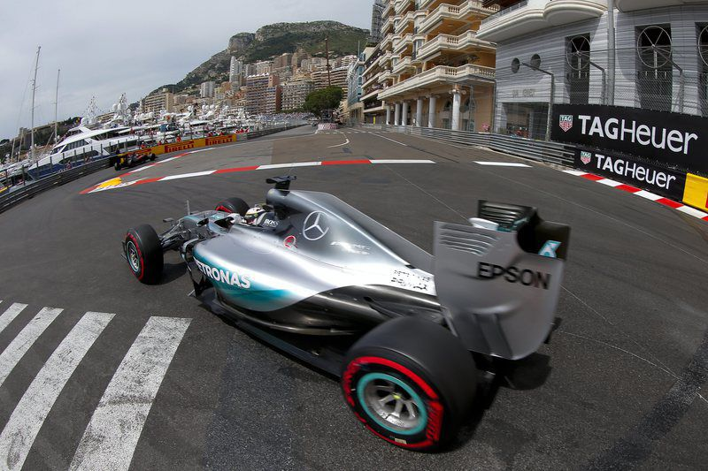 Monaco Formula One Grand Prix • epa04763215 British Formula One driver Lewis Hamilton of Mercedes AMG GP in action during the third practice session of the Monaco Formula One Grand Prix at the Monte Carlo circuit in Monaco, 23 May 2015. The 2015 Formula One Grand Prix of Monaco will take place on 24 May 2015.  EPA/VALDRIN XHEMAJ • Lusa