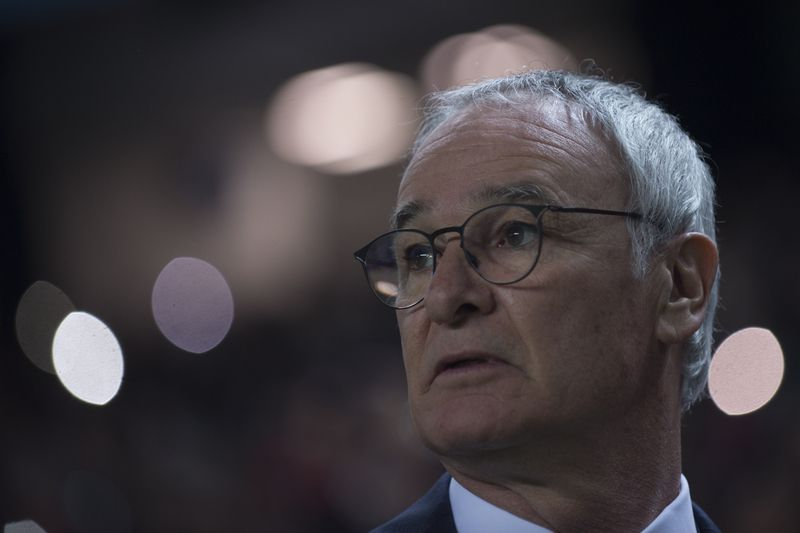 Claudio Ranieri Leicester • Leicester City's Italian coach Claudio Ranieri looks on before the UEFA Champions League round of 16 second leg football match Sevilla FC vs Leicester City at the Ramon Sanchez Pizjuan stadium in Sevilla on February 22, 2017. / AFP PHOTO / JORGE GUERRERO • AFP or licensors