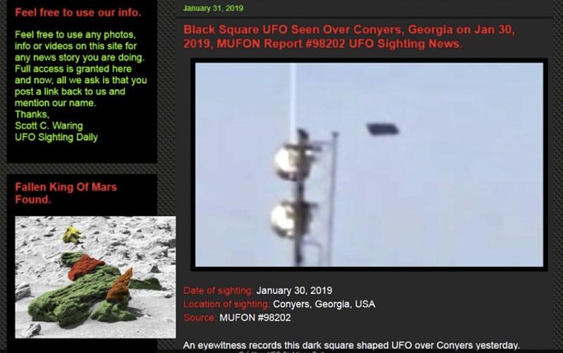 Foram filmados OVNIS a sobrevoar uma cidade da Geórgia 772a75a1dfd25