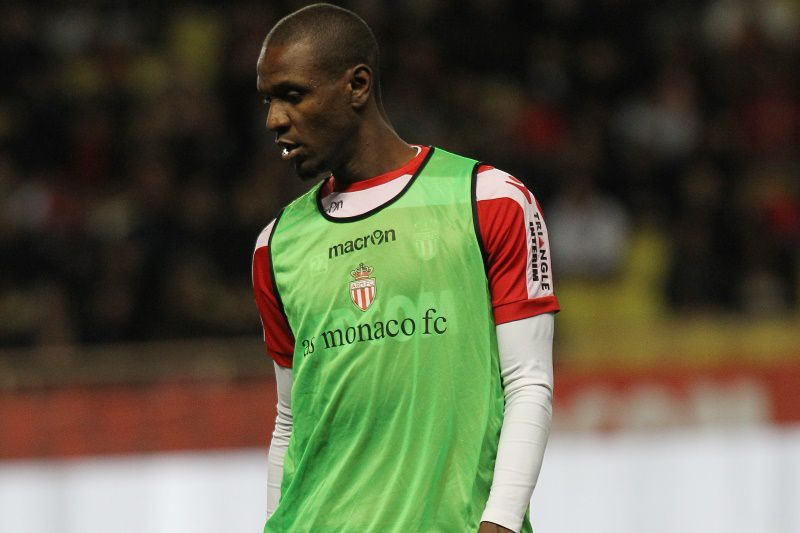 Monaco's French defender Eric Abidal warms up before the French L1 football match between AS Monaco and Paris Saint-Germain on February 9, 2014 at the Louis-II stadium in Monaco.  AFP PHOTO / JEAN-CHRISTOPHE MAGNENET