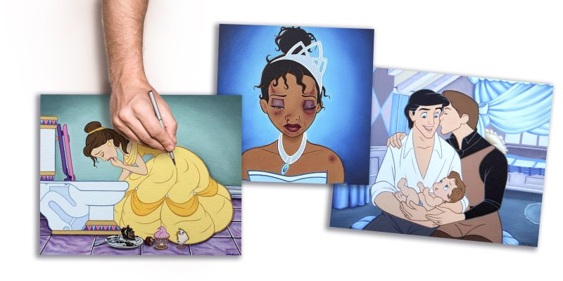 Artista visual mexicano moderniza personagens da Disney