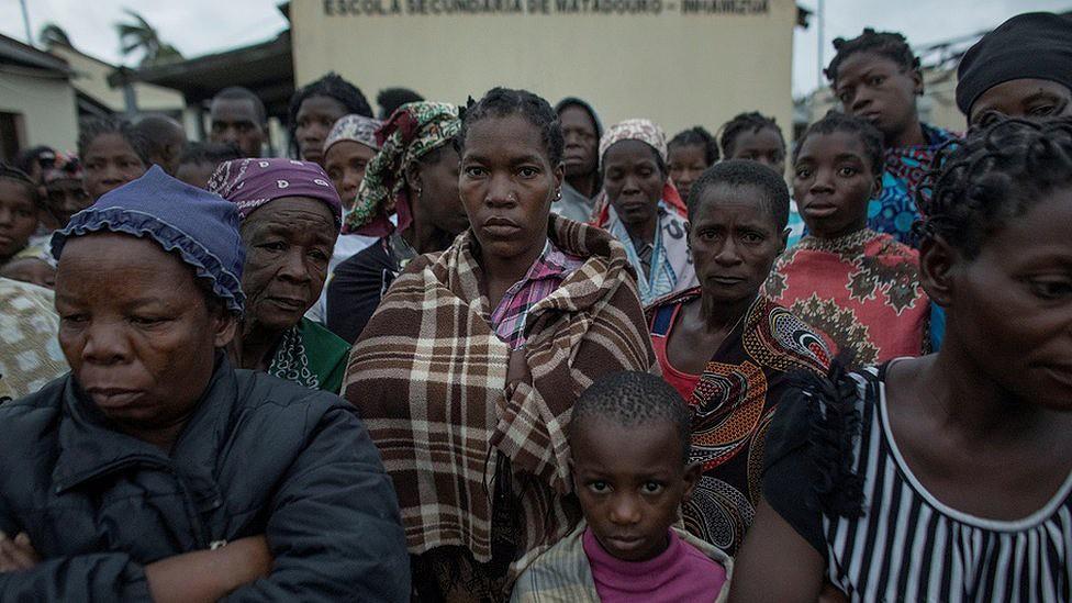 Pessoas afetadas por ciclone em Beira