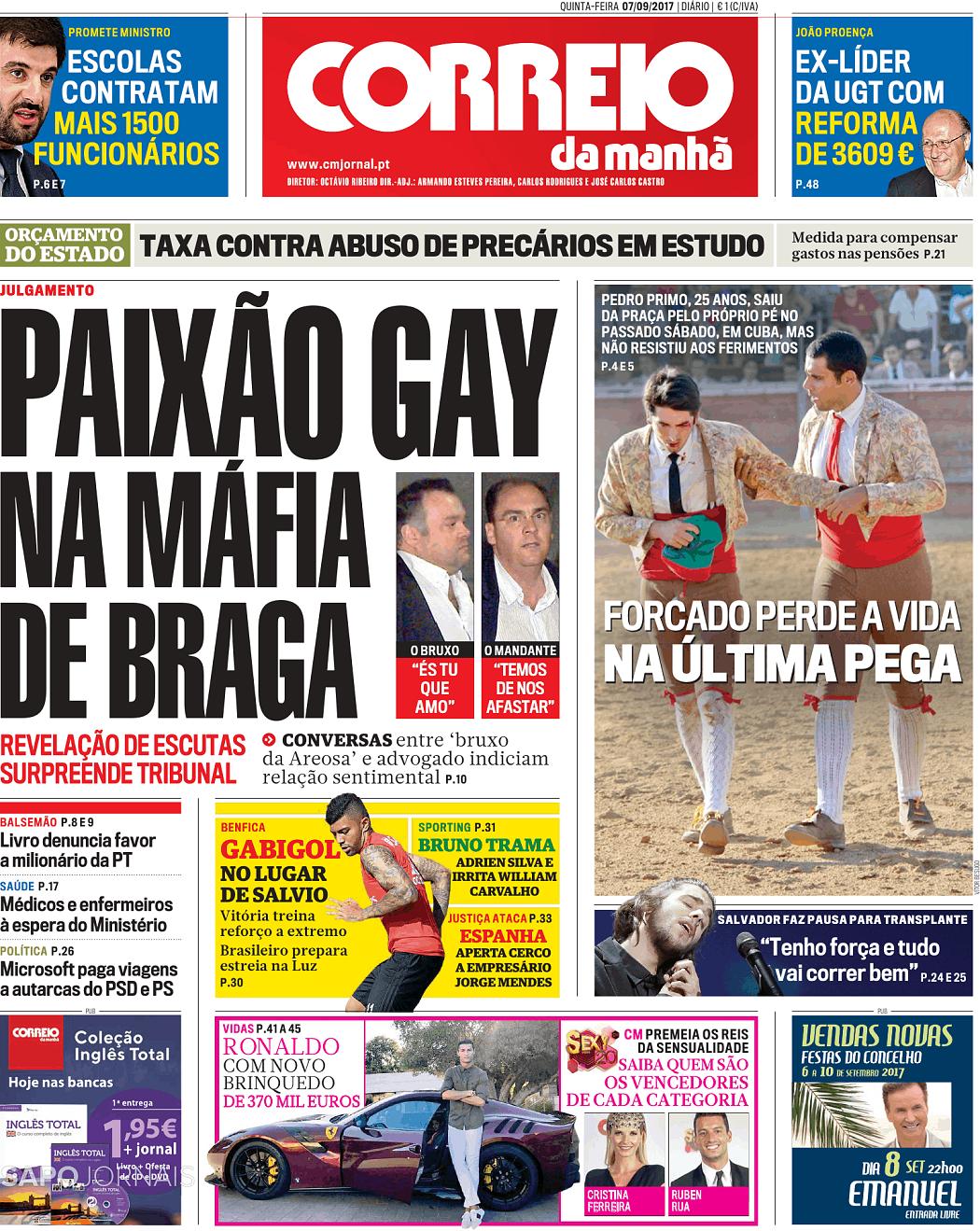 62b13a941 Correio da Manhã (7 set 2017) - Jornais e Revistas - SAPO 24