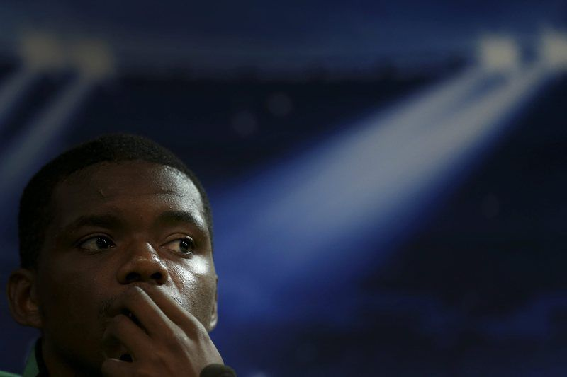 Sporting press conference • epa04476420 Sporting's player William Carvalho during a press conference at Alvalade XXI Stadium, Lisbon, Portugal, 04 November 2014. Sporting will face Schalke 04 in the UEFA Champions League group G soccer match on 05 November at Alvalade Stadium in Lisbon.  EPA/ANDRE KOSTERS • Lusa