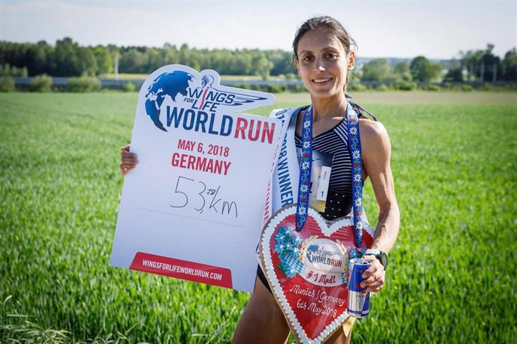 Vera Nunes venceu a corrida global feminina Wings for Life World Run