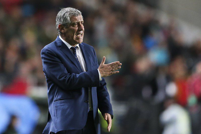 Fernando Santos • epa05870770 Portugal's head coach Fernando Santos reacts during the 2018 FIFA World Cup Russia group B qualifying soccer match Portugal vs Hungary at Luz Stadium in Lisbon, Portugal, 25 March 2017.  EPA/MIGUEL A. LOPES