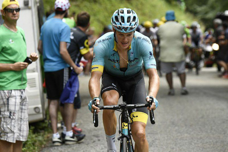 Jakob Fuglsang desistiu do Tour • Jakob Fuglsang desistiu do Tour. • PHILIPPE LOPEZ / AFP