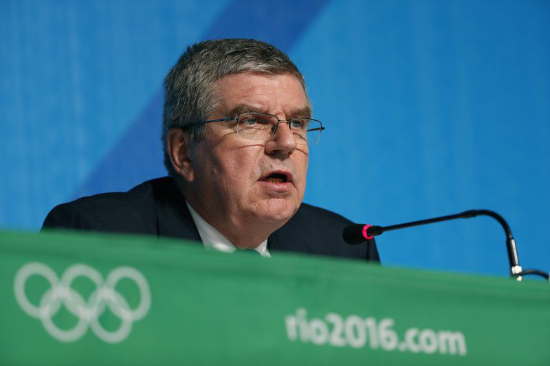 Olympic Games 2016 Feature • epa05502116 IOC President Thomas Bach speaks during a press conference at the Main Press Centre at the Rio 2016 Olympic Games in Rio de Janeiro, Brazil, 20 August 2016.  EPA/ORLANDO BARRIA • Lusa