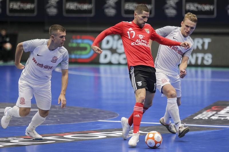 Benfica soma segundo triunfo na Ronda da Elite da  Champions  de futsal d5b93dcffc663