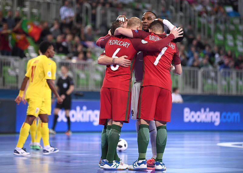 Portugal vence Roménia na abertura do Euro de futsal. Ricardinho ... de88acfd6d536