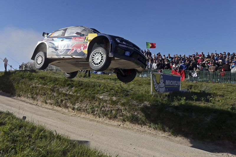 WRC Rally of Portugal • epa04764825 Jari-Matti Latvala of Finland driving his Volkswagen Polo R WRC during the fourth day of the WRC Rally of Portugal in Fafe, Portugal, 24 May 2015.  EPA/JOSE COELHO • Lusa