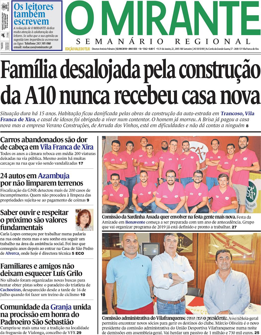 O Mirante- Vale do Tejo (2 ago 2018) - Jornais e Revistas - SAPO 24 df860c4b344eb