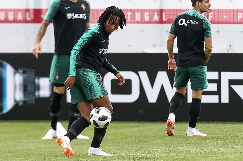 Bruno Fernandes e Gelson inseparáveis no treino da seleção portuguesa, 'frio' regressa em Kratovo