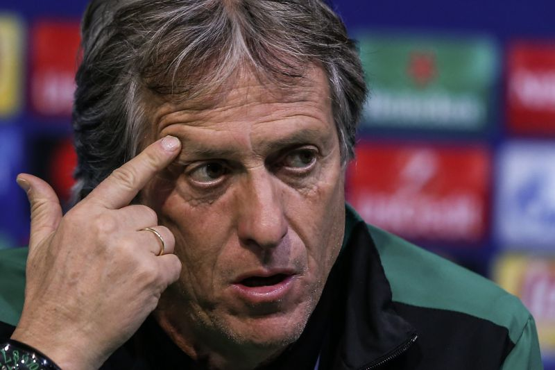 Sporting CP head coach Jorge Jesus attends a press conference at the Alvalade Stadium in Lisbon, Portugal, 21 November 2017. Sporting Lisbon will face Olympiacos Piraeus in an UEFA Champions League Group D soccer match on 22 November. EPA/ANTONIO COTRIM